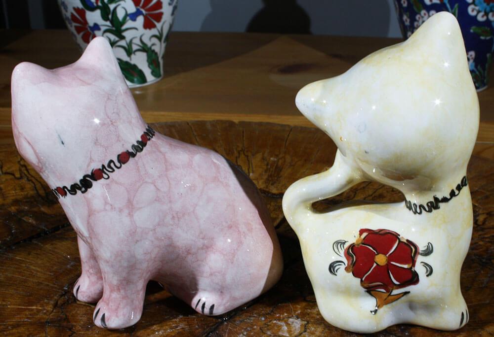 Çift Kediler Çini Biblolar