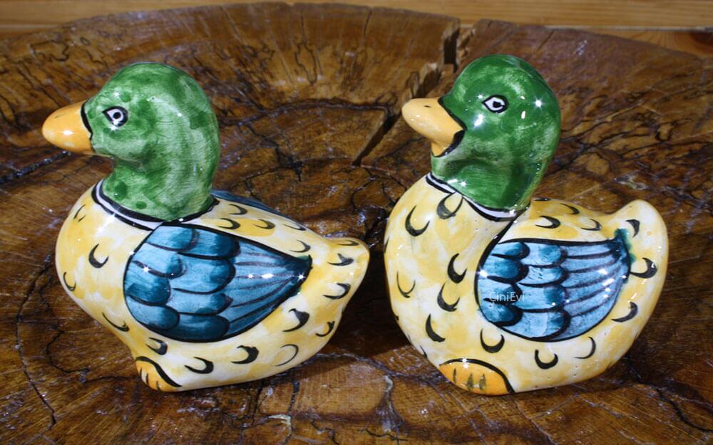Çift Ördekler Çini Biblolar