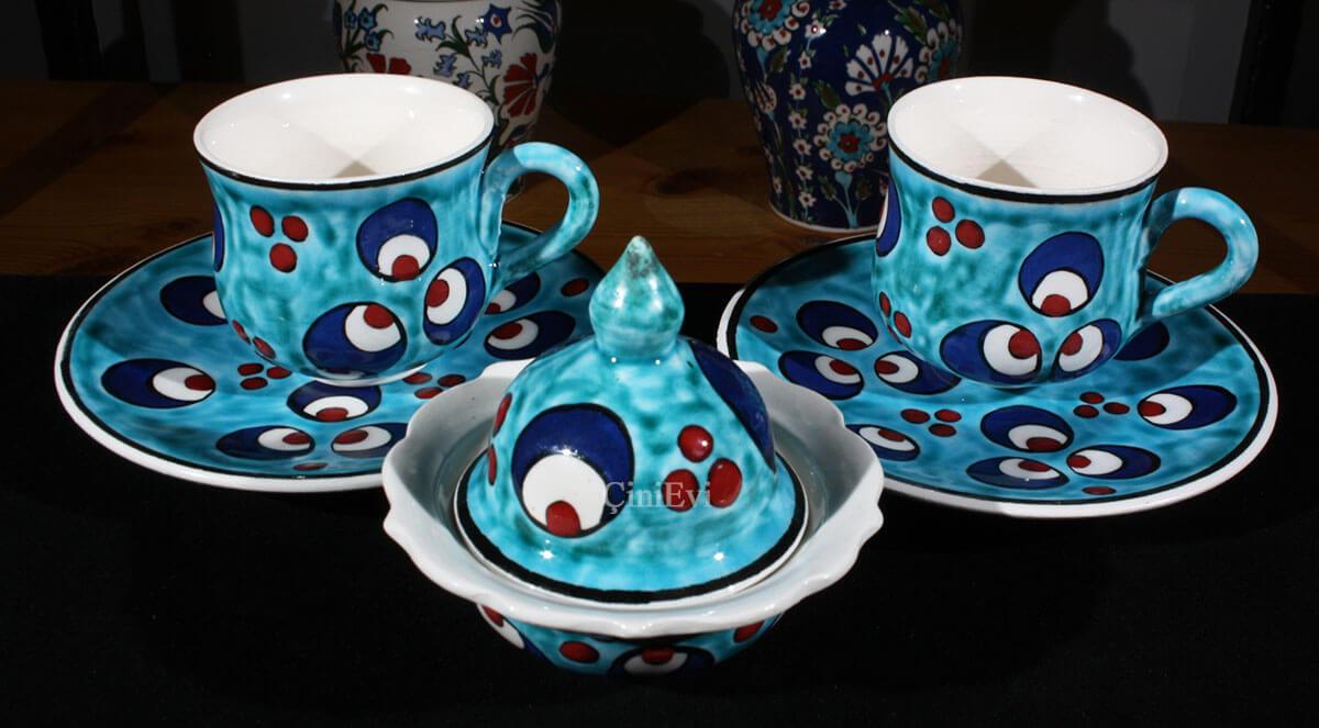 Çintemani Motifli Kahve Seti