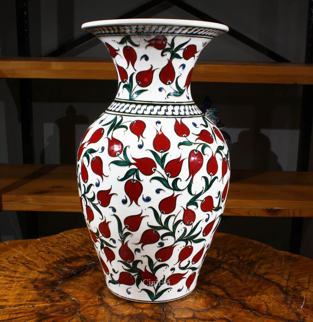 İznik Çini Vazo 30cm