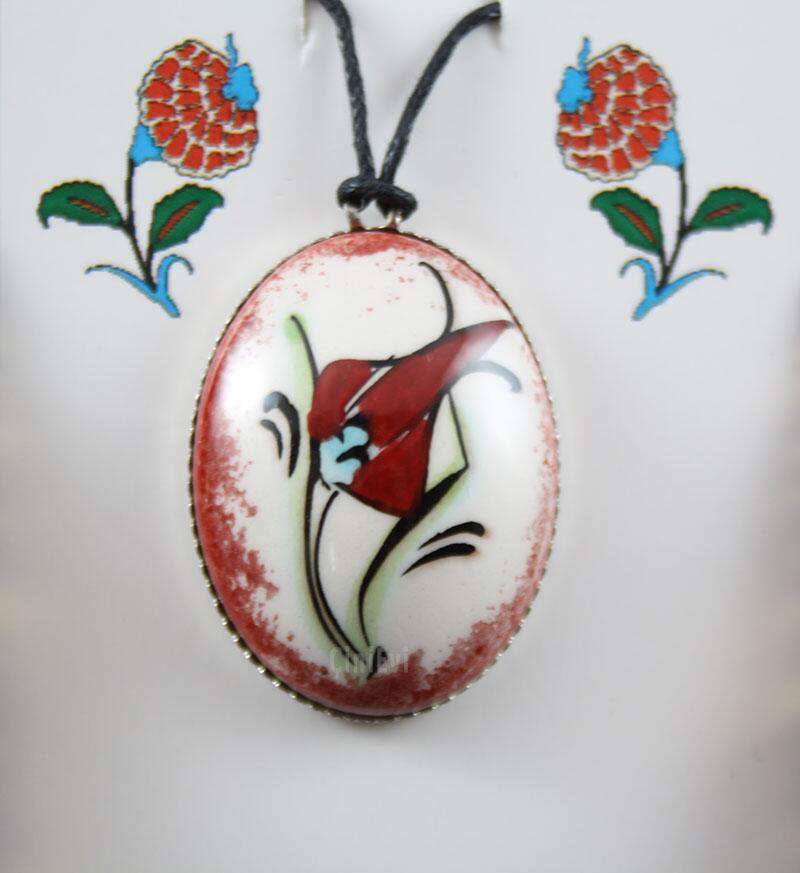 Klasik Osmanlı Lalesi Kolye Ucu