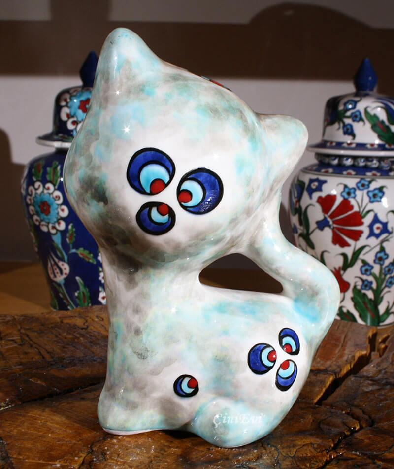 Minnoş Kedi Çini Biblo