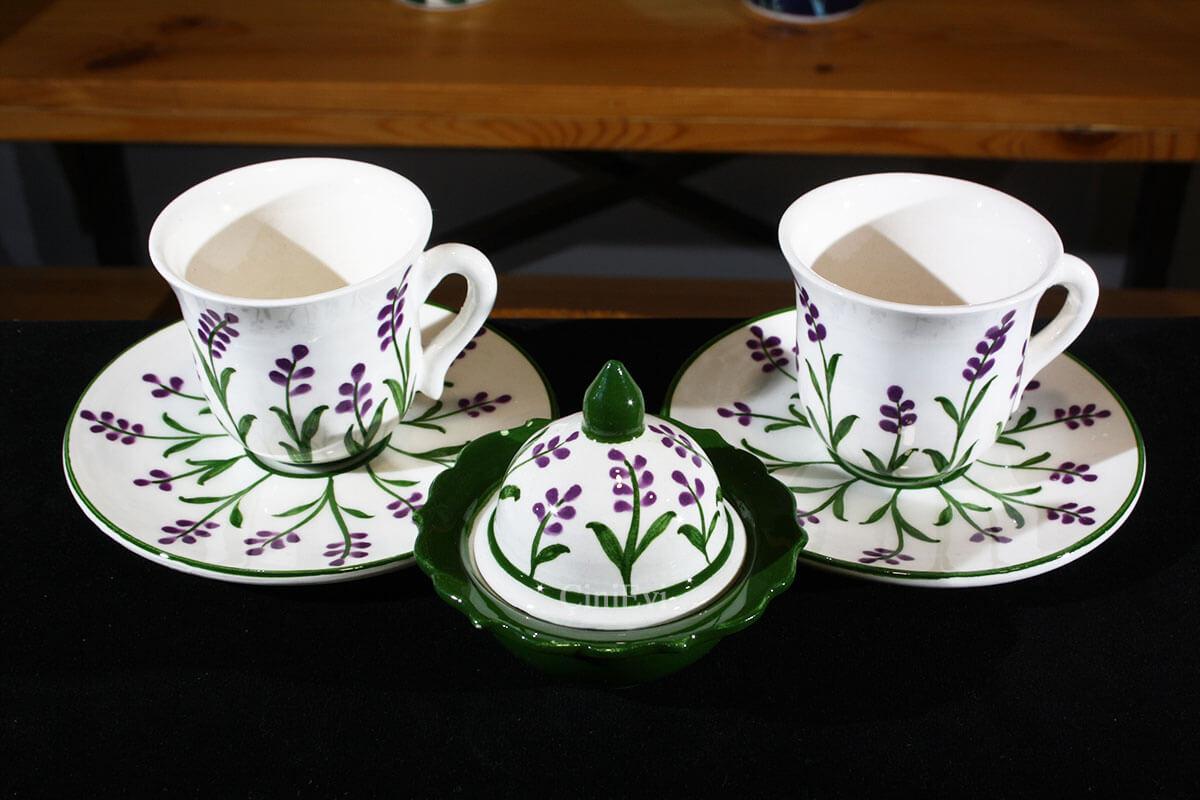 Sevgiliye Hediye Sümbül Motifli Kahve Seti