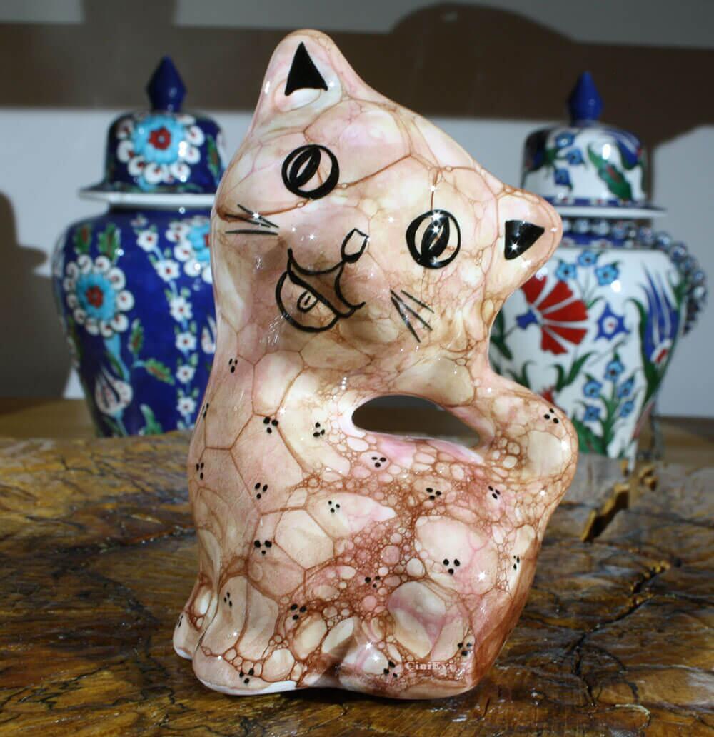 Sevimli Kedi Çini Biblo
